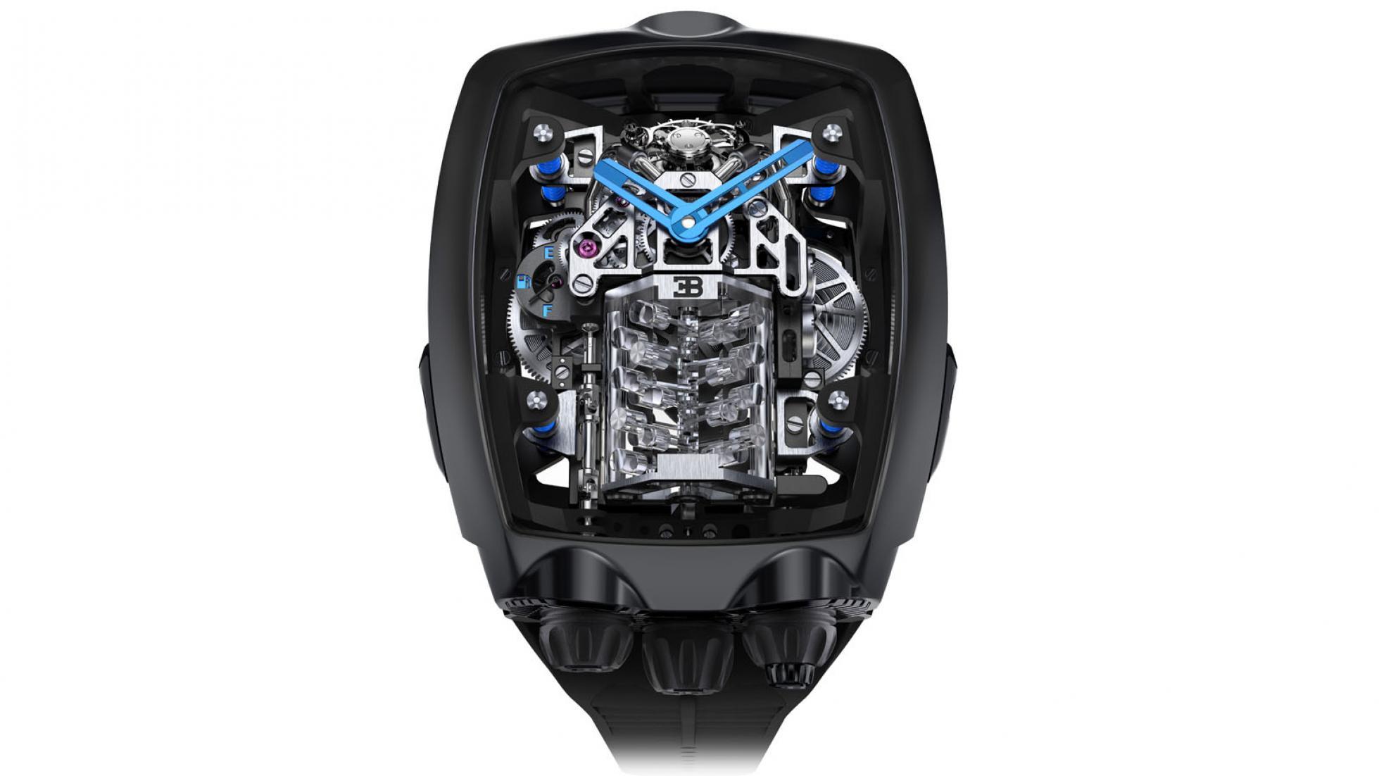 Hodinky Bugatti majú cenu drahého auta a miniatúrny šestnásťvalec rLwlDjCdy4 jacob-co-bugatti-chiron