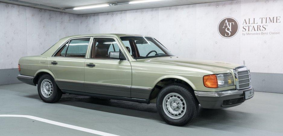 Mercedes S 126 z roku 1982 s nájazdom 36 000 km je na predaj. Zoznámte sa s jeho históriou
