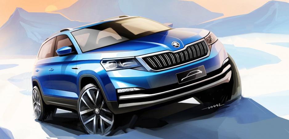 Škoda ukázala skice nového malého crossoveru Kamiq