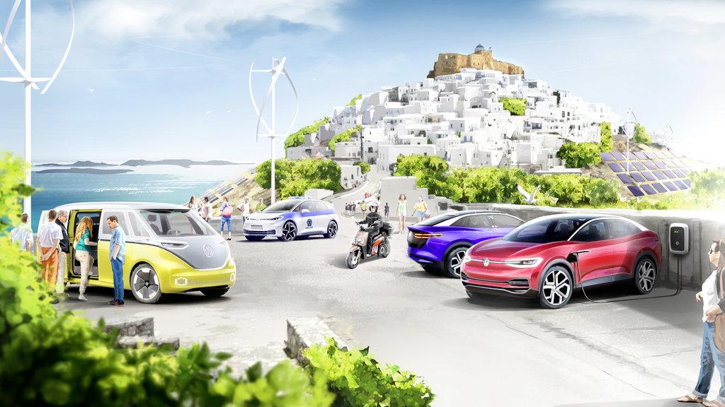 """Volkswagen spraví z gréckeho ostrova Astypalea """"raj elektromobilov"""""""
