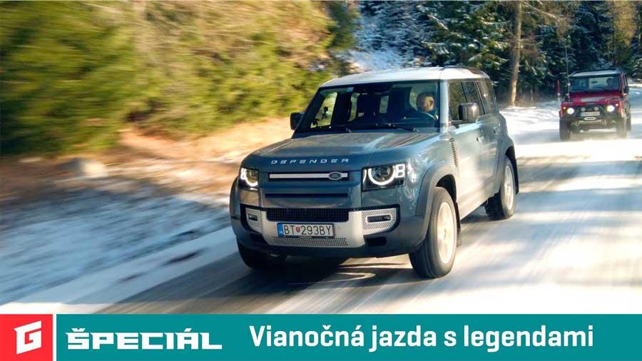 Vianočný test: Land Rover Defender D240 SE vs Defender 110 300 TDi