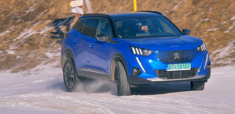 Vysokohorský test: Peugeot e2008 vs. e208