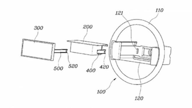 Hyundai si patentoval volant s displejom